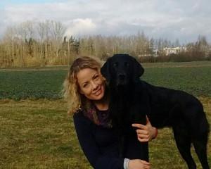 Genica mit Hund 50x40